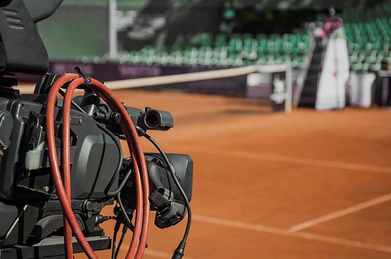 kamera nakorcie tenisowym